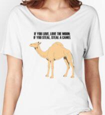 Camel Women's Relaxed Fit T-Shirt