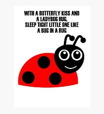 cartoon ladybug Photographic Print