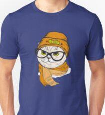 portrait of cat hipster  T-Shirt