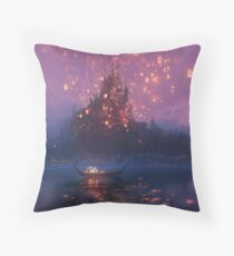 Tangled Lanterns! Throw Pillow