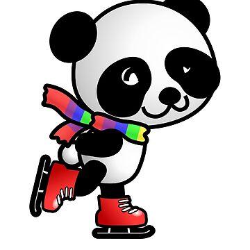 skating panda by a1artist