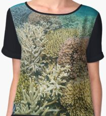 Colorful corals underwater Pacific ocean Women's Chiffon Top