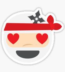 Ninja Emoji Heart and Love Eyes Sticker