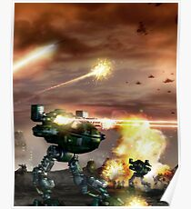 Mech-Schlacht Poster