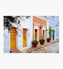 Old San Juan Street, Puerto Rico Photographic Print