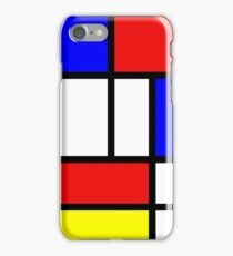Retro Mondrian Pattern iPhone Case/Skin