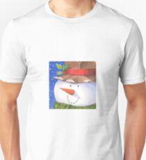 Cute country snowman Unisex T-Shirt