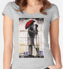 old book drawing famous people Women's Fitted Scoop T-Shirt