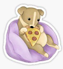 Pizza Puppy Sticker