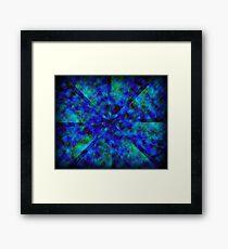 Blue Kaleidoscope Framed Print