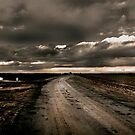 Stormy Weather on a Lonely Country Road by Buckwhite
