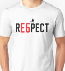 RE6PECT Shirt - Black Text Slim Fit T-Shirt