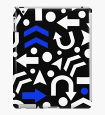 Right Direction - blue iPad Case/Skin