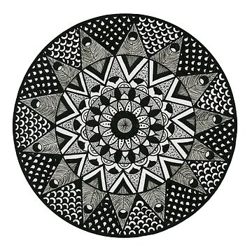 Mandala Angular Black by EmilySkelling