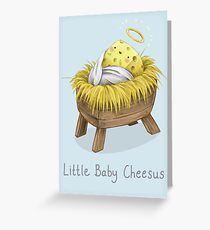 Funny religious greeting cards redbubble little baby cheesus greeting card m4hsunfo