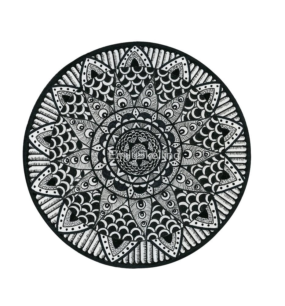 Mandala Black by EmilySkelling