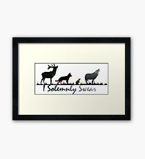 """I Solemnly Swear"" Colour Framed Print"