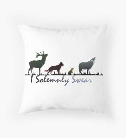"""I Solemnly Swear"" Colour Throw Pillow"