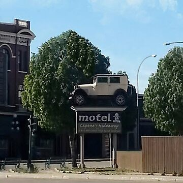 Al Capone's car at the Motel where he stayed during prohibition - Moose Jaw Saskatchewan-PICTURE AND OR CARD by Rapture777