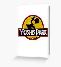YOSHIS PARK Greeting Card