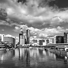 Melbourne from the Docklands by Christine Wilson