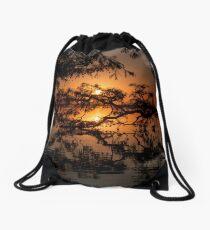 Cypress filtered Sunset Drawstring Bag