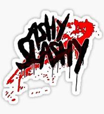 Ash vs The Evil Dead - ASHY SLASHY (BLOOD ON BLACK) Sticker