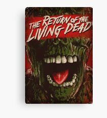 Return of the living dead poster Canvas Print