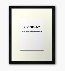 9/10 Ready Framed Print