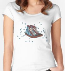 Funky shoes Tailliertes Rundhals-Shirt