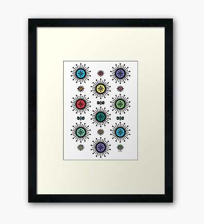 Retro Starlight Framed Print