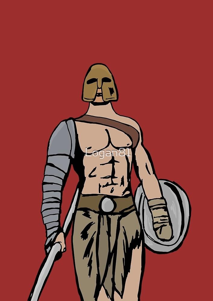 Armed gladiator by Logan81