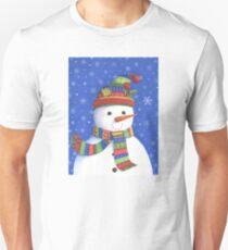 Cute highly detailed snowman Unisex T-Shirt