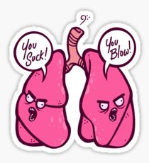 Angry Lungs Sticker
