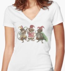 Clown Mice Women's Fitted V-Neck T-Shirt
