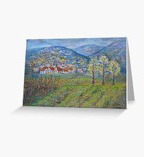 November landscape Greeting Card