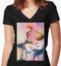 Beaker & Bunsen Women's Fitted V-Neck T-Shirt