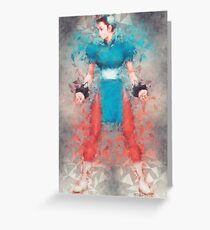Street Fighter 2 - Chung Le Greeting Card