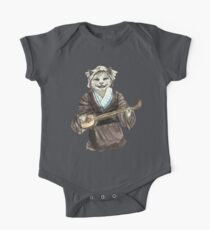 A Singing Cat Playing Samisen One Piece - Short Sleeve