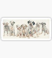 Dalmatian Puppies Sticker