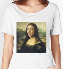 Nicolas Cage/Mona Lisa Women's Relaxed Fit T-Shirt