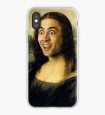 Nicolas Cage/Mona Lisa iPhone Case