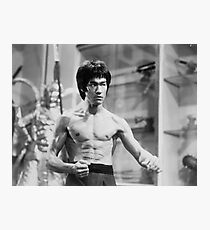Bruce Lee Pose Photographic Print