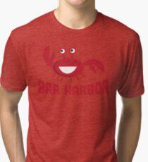 Bar Harbor T-shirt - Funny Red Crab Tri-blend T-Shirt