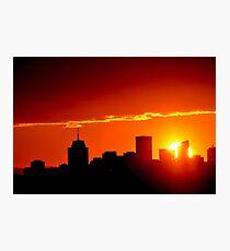 Cityscape Sunset Photographic Print