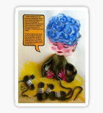 Yarn about yarn Sticker