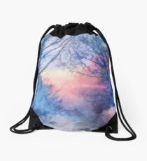 Winter evening Drawstring Bag