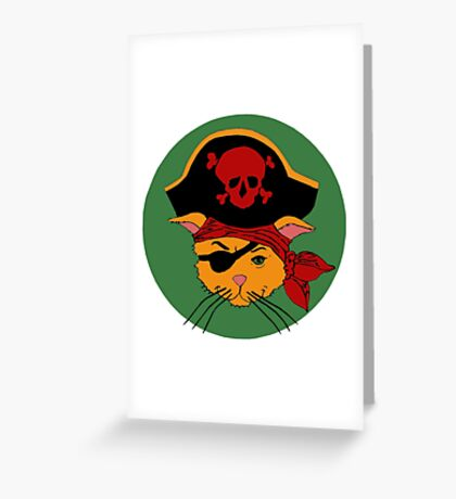 The Dread Pirate Kitty Greeting Card