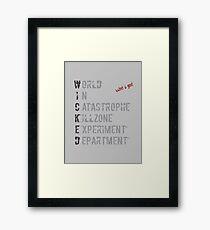 W.I.C.K.E.D. Framed Print