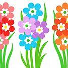 FLOWERY THREESOME by RainbowArt